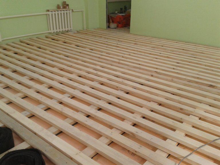 Полы в деревянном доме своими руками дсп