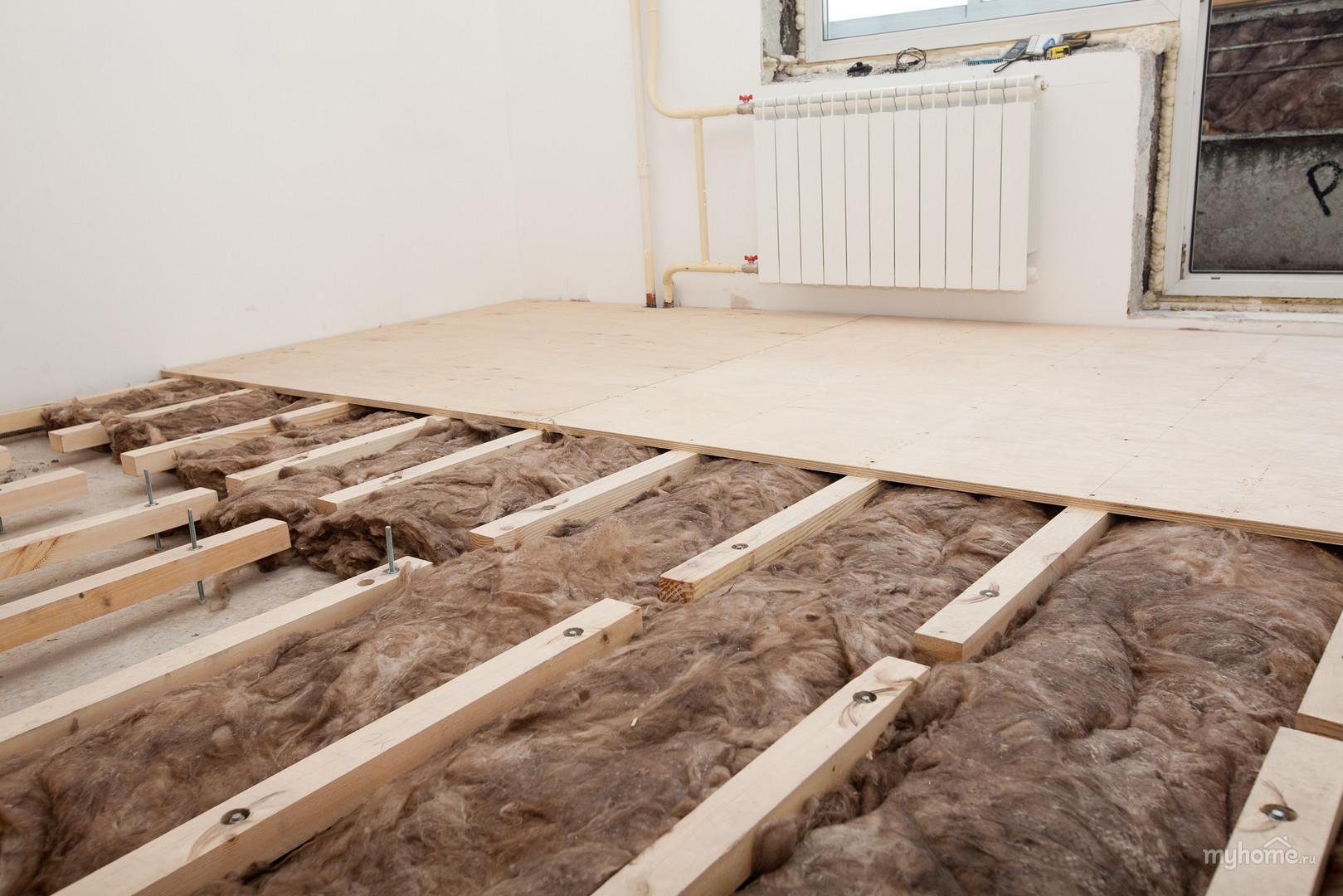 Деревянные полы в доме из фанеры по лагам своими руками