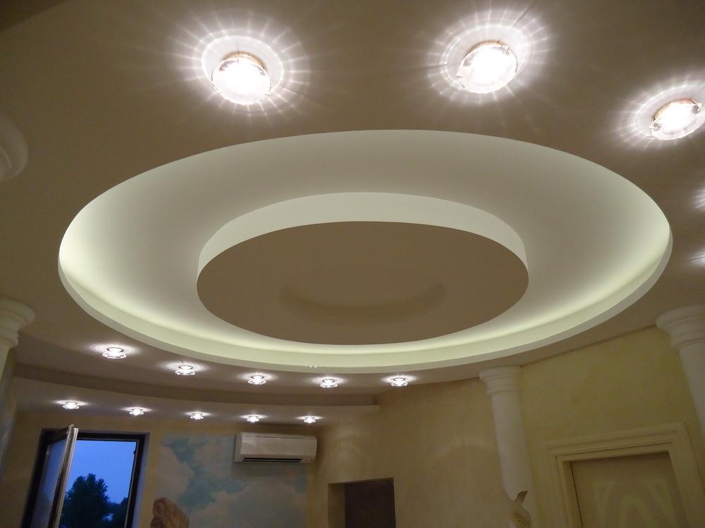 Как сделать потолок с круглыми 165