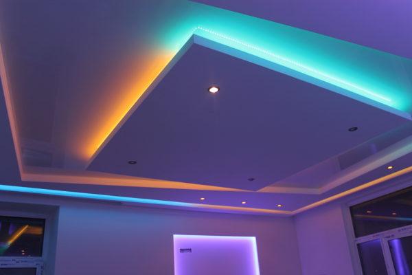 Потолки со светодиодной подсветкой