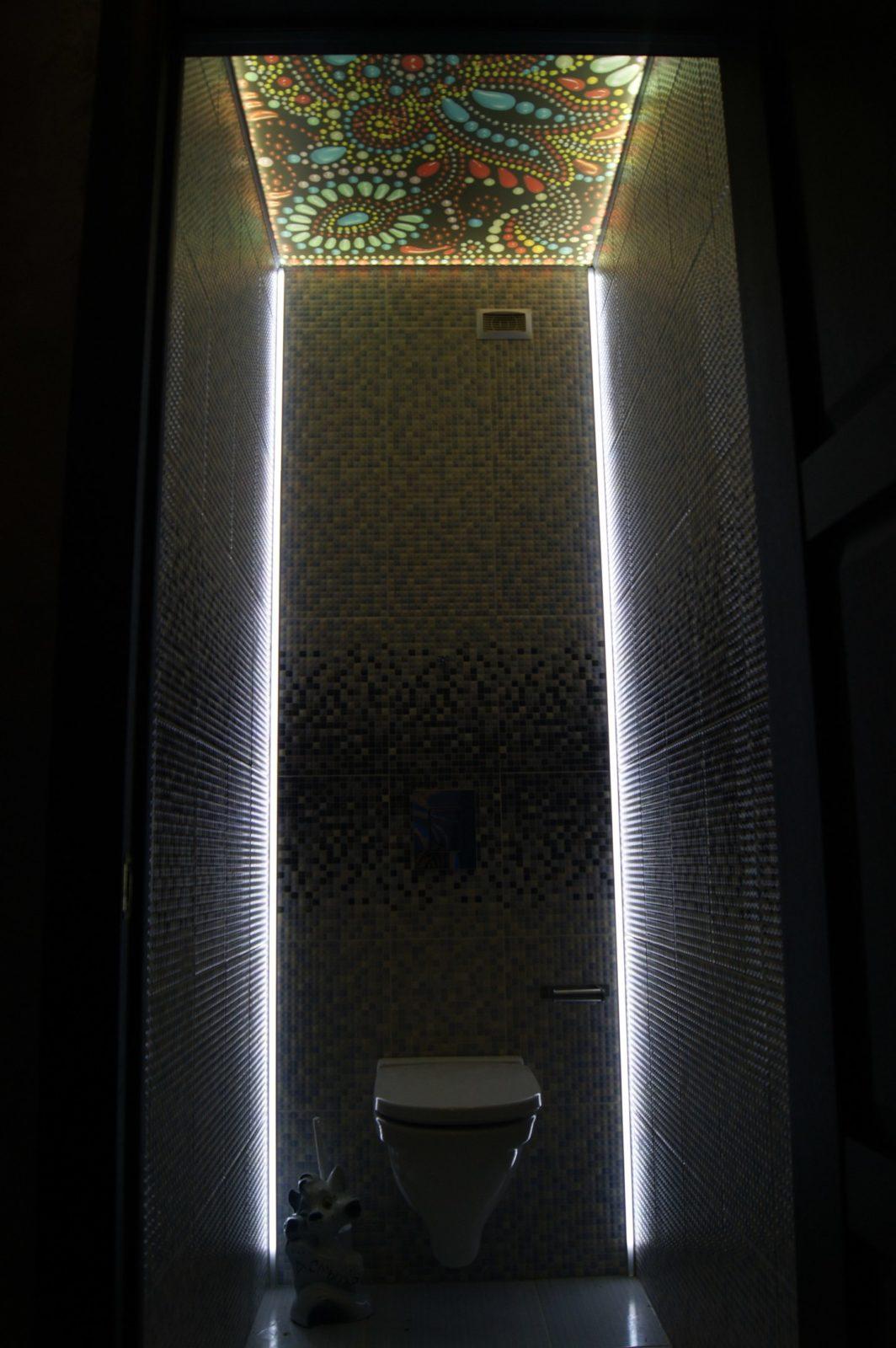 Ремонт санузла под ключ с подсветкой