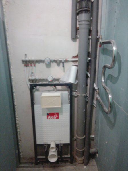 Ремонт санузла под ключ - процесс ремонта