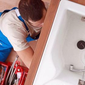 Установка раковины, ванны, душевой кабины, унитаза