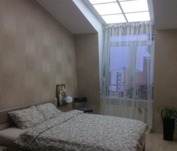 Ремнт комнаты в мансарде и светоиодный потолок-10