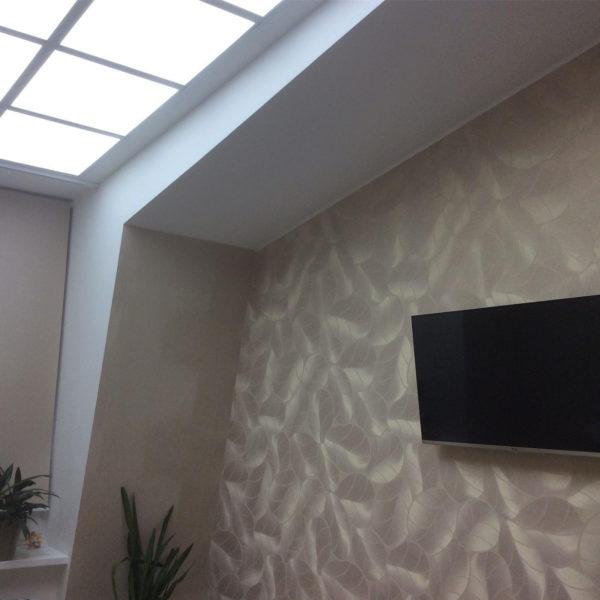 Ремнт комнаты в мансарде и светоиодный потолок-6